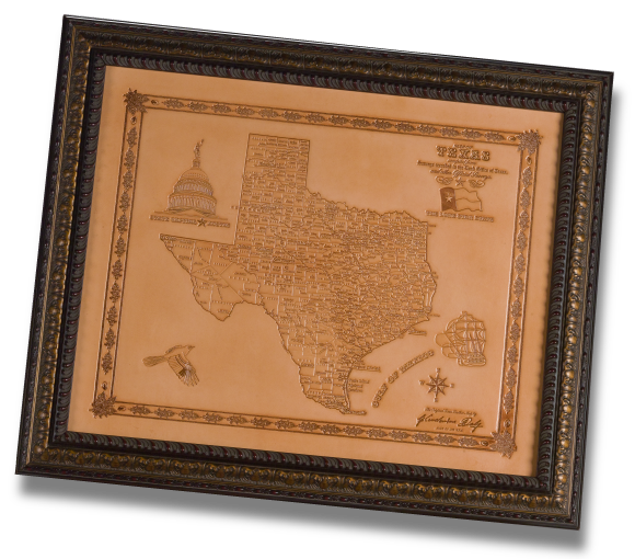 Texas Leather Map