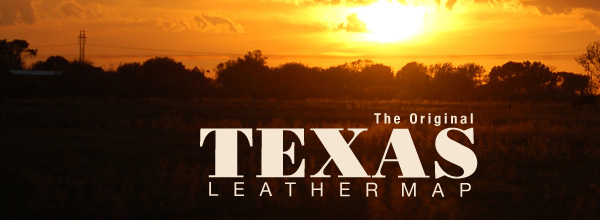 The Original Texas Leather Map